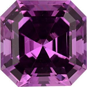 Sapphire Asscher 0.96 carat Pink Photo
