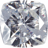 Antique Square Lab Created Moissanite