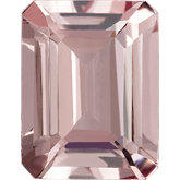 Emerald/Octagon Genuine Pink Morganite