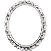 Oval Bezel Set Cabochon Crown Setting