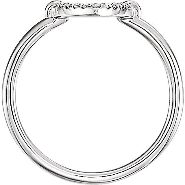 14K White .08 CTW Diamond Heart Ring