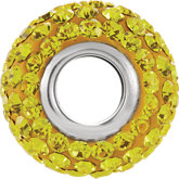 Kera® Citrine-Colored Crystal Pave' Bead