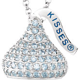 HERSHEY'S KISSES Cubic Zirconia Flat Back Birthstone Necklace