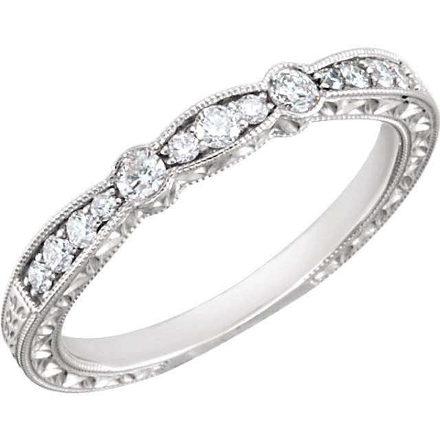 14K White 1/4 CTW Diamond Band Size 7