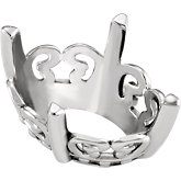 Oval 4-Prong Butterfly Scroll Setting