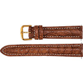 Men's Matte Sport Genuine Crocodile Heavy Padded Strap