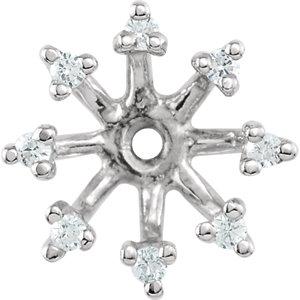 Earring Jackets, 14K White 1/6 CTW Diamond Earring Jackets