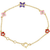 Accented Flower Youth Bracelet