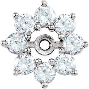 Earring Jackets, 14K White 3/4 CTW Diamond Earring Jackets