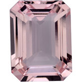 Emerald/Octagon Genuine Morganite (Black Box)