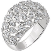 Accented Leaf Ring