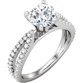 Melee Accented Engagement Ring