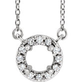 French-Set Halo-Style Necklace or Center