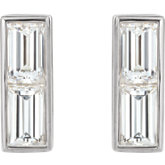 Accented Rectangle Earrings