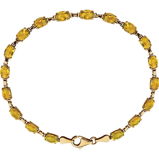 14K Yellow Citrine 7.25