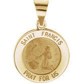 Hollow St. Francis Medal