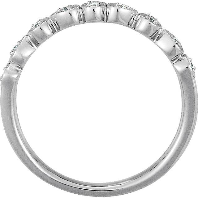 14K White .04 CTW Diamond Ring Size 7