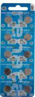 Renata #391 Pack of 10 0% Mercury Silver Oxide Watch Batteries