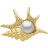 Diamond Pelican's Foot Brooch for Pearl