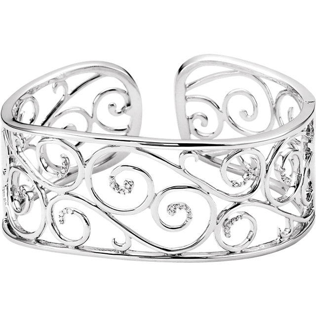 Filigree Scroll Cuff Bracelet