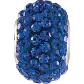 Kera® Sapphire-Colored Crystal Pave' Bead