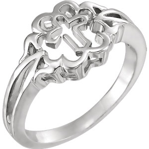 Sterling Silver Chastity Rings® Size 8