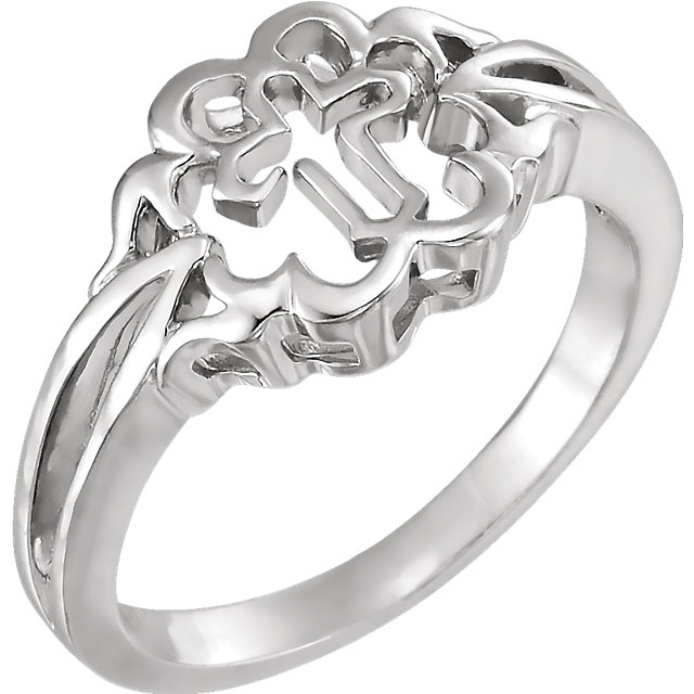 Sterling Silver Cross Chastity Rings® Size 8