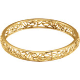 Be Posh® Textured Bark Bangle Bracelet
