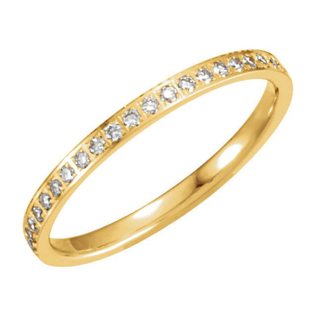 14K Yellow 3/8 CTW Diamond Eternity Band Size 8