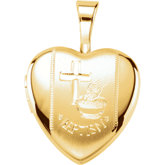 Heart Baptismal Locket