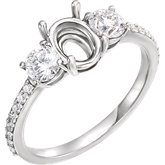 Three-Stone Engagement Ring or Band