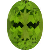 Oval Genuine Peridot (Black Box)