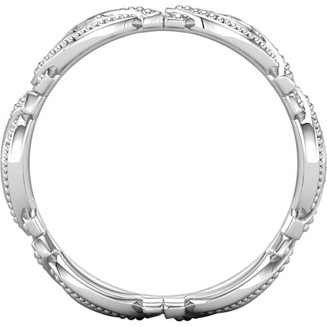 14K White 1/6 CTW Diamond Eternity Band Size 7