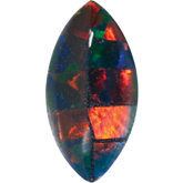 Marquise Lab Created Mosaic Opal