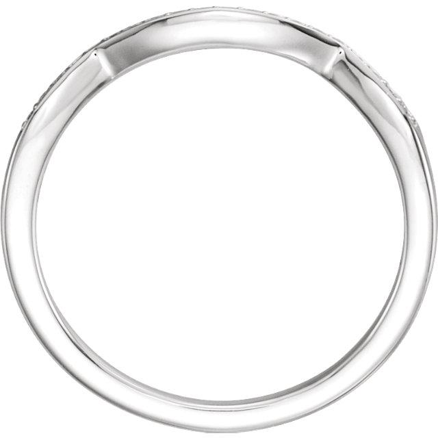 14K White 5.8mm Round 1/10 CTW Diamond Band