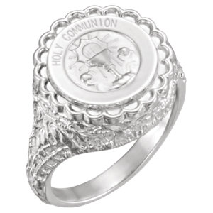 Sterling Silver Holy Communion Ring