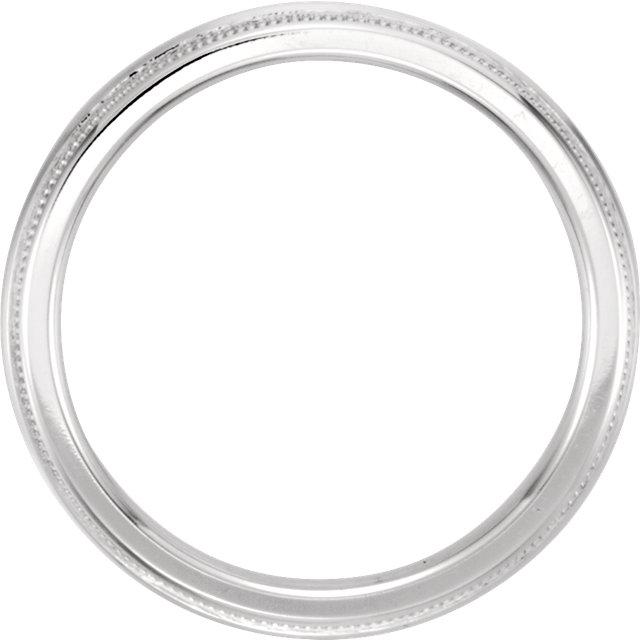 14K White 2.5 mm Knife Edge Comfort-Fit Milgrain Band Size 11