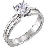 4-Prong Euro Shank Solitaire Engagement Ring
