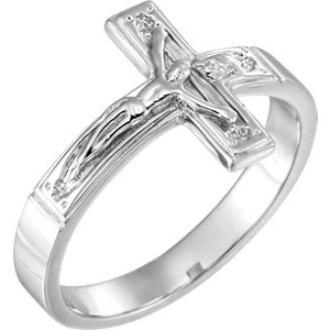 Sterling Silver Crucifix Chastity Ring Size 12