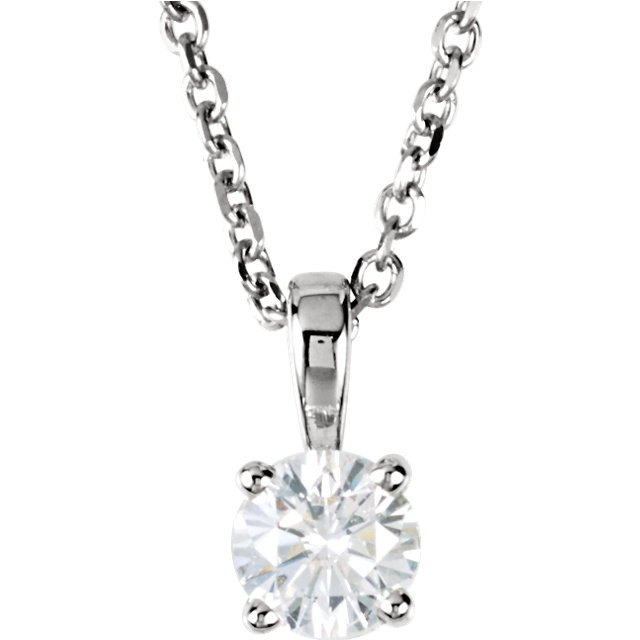 14K White 1/4 CTW Diamond 18