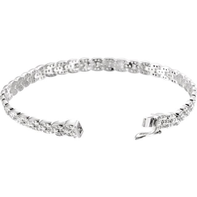 Cubic Zirconia Line Bracelet