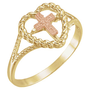 Heart Ring with Cross