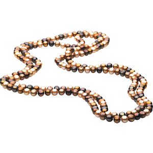 Freshwater Cultured Dyed Chocolate Pearl Rope Necklace