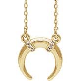 Accented Crescent Necklace or Center