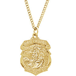 24k gold plated 286x2087mm st michael 24 necklace stuller 24k gold plated 286x2087mm st michael 24 necklace mozeypictures Image collections