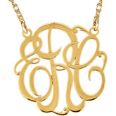 40mm 3-Letter Script Monogram Necklace