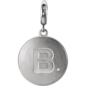 e7ee85444 Sterling Silver Block Initial