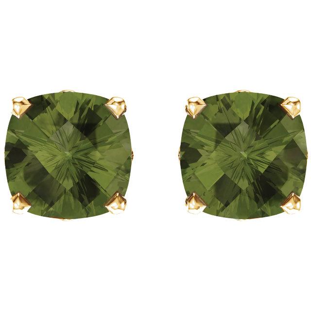 14K Yellow Perdiot Earrings