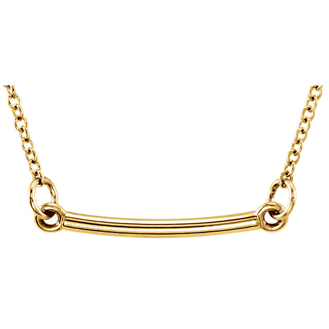 14K Yellow Tiny Posh® Bar 16-18