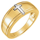 Two-Tone Cross Ring